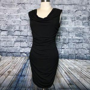 BCX Black Short BodyCon Dress Jeweled Back NWT